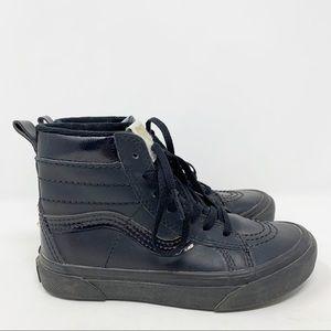 Vans SK-8HI MTE Black/Gold Stud Kids Sneakers 13.5